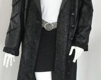 Spanish leather coat ladies Cordero large size oversized lamb leather jacket