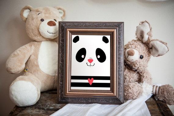 Illustration panda personalisable d coration par for Choix de couleur pour chambre bebe