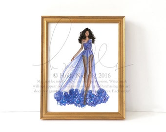 Swept (Couture Fashion Illustration Print)
