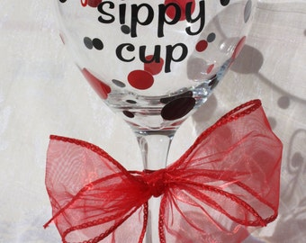 Grandma's Sippy Cup ** Large 20 ounce Angular Wine Glass* Perfect for Grandma! (item #2-3-R-G)