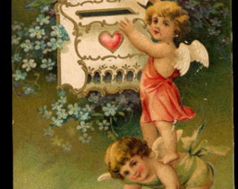 International Arts Cupid Valentine's Day 1908 Postcard