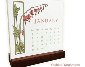 Yoshiko Yamamoto 2017 Letter Press Calendar