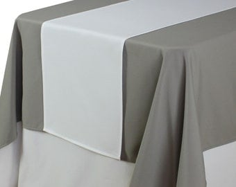 White Table Runner 14 X 108 Inches | Matte White Table Runners For  Weddings, Wholesale