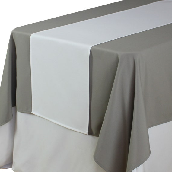 White table runner 14 x 108 inches matte white table runners for 108 inch table runners