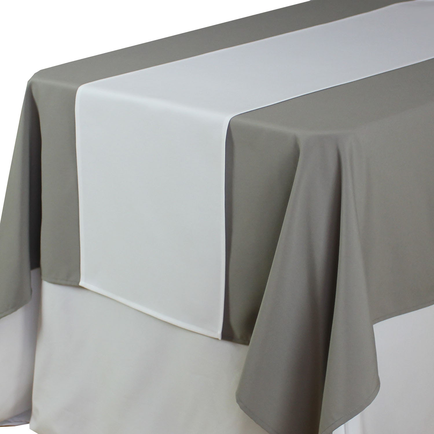 White table runner 14 x 108 inches matte white table runners for 108 table runner