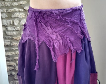 Pixie, Fairy, Layering Cotton lace skirt
