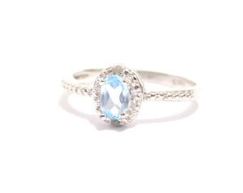 Topaz ring, sterling silver ring, blue topaz ring, rings, silver ring, silver topaz ring, sky blue topaz ring