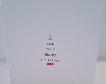 We wish you a merry Christmas - Pack 0f 5 Cards