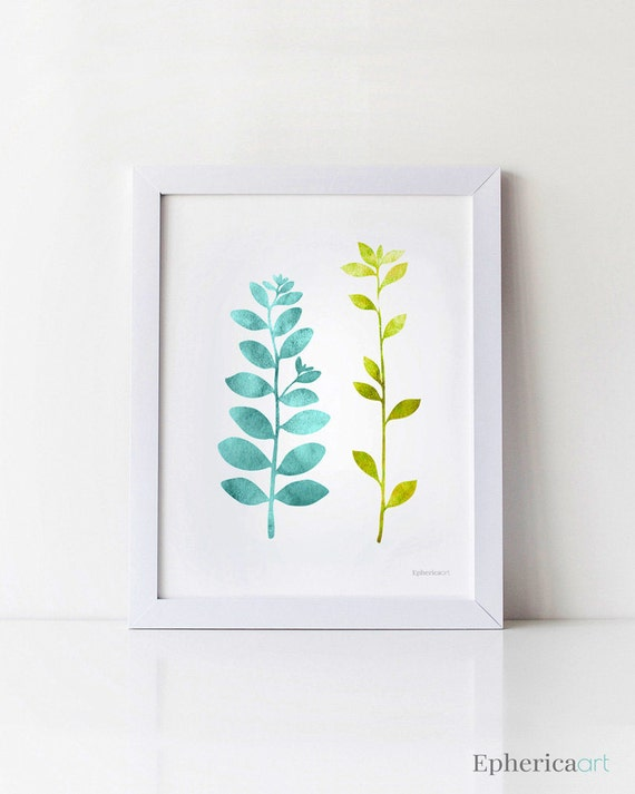 Teal And Green Art Teal Print Teal And Lime Green Decor
