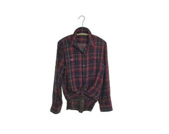 Ralph Lauren shirt plaid shirt preppy shirt 90s grunge shirt 90s goth shirt boyfriend shirt slouchy shirt oversized boho hipster shirt m L