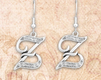 Z Initial Earrings - 54423