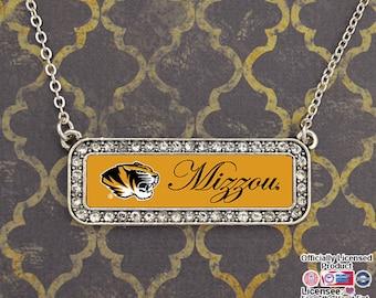 Missouri Tigers Nameplate Necklace