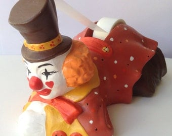 Ceramic Clown Tape Dispenser