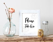 Please take one Wedding signage/Wedding Sign/Printables/Instant Download/Black and white/Minimal/DIY Wedding/Reception sign/Flower/AP31