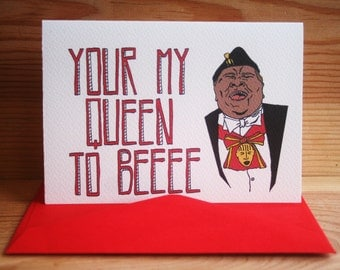 coming to america valentines day card 'your my queen to be' *free uk postage*