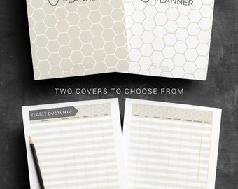 Finance Planner PRINTABLE Budget Planner Spending Tracker Savings Chart