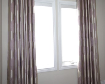 "Custom Drapes ""Medallion"", flower patterned drapes, Grommet Panels, Drapery Panels, Made-to-Order"
