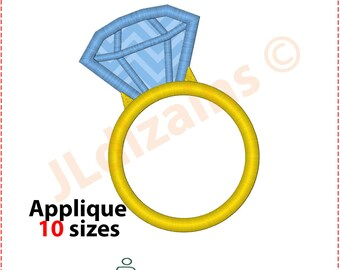 Ring Applique Design. Ring embroidery design. Wedding ring applique. Wedding embroidery. Embroidery ring. Machine embroidery design.