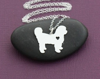 SALE - Shih Tzu Necklace - Pet Lover Jewelry - Sterling Silver - Dog Charm - Pets - Shi Tzu - Birthday Gift - Personalized Dog Necklace