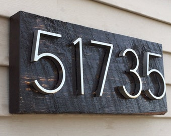 Items Similar To Mid Century Modern Address Sign W