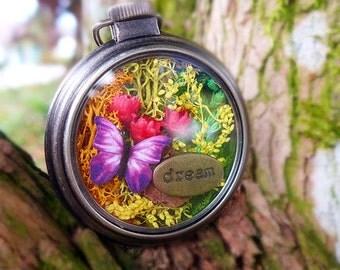 Moss Necklace, Mini Terrarium Jewelry, Glass Terrarium Necklace, Real Plant Jewelry, Real Flower Necklace, Dream Necklace, Botanical Jewelry
