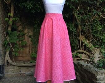 Audrey - Pink Rose Unique 50's Circle Skirt