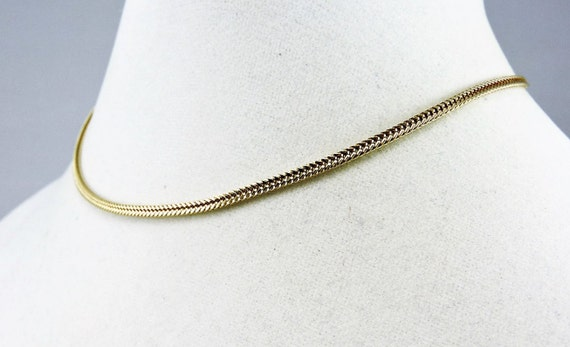 14k Gold Foxtail Chain Necklace 16""