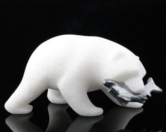 """Bear, Star Marble with Hematite Fish- 10% off - Promo Code """"SUMMER17"""""""