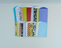 Paper Pocket Pack, Handmade Pockets, Paper Accessories, Embellishment Pocket, 22 Pocket Pack, Envelope Pocket Pack, Designer Paper Set,