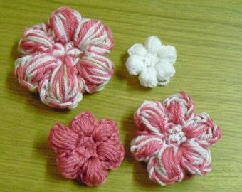 Instant Download - PDF-  Pretty Puff Flower Crochet Pattern (F7)