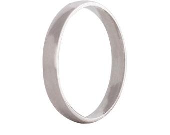 White gold 2,5mm wedding band