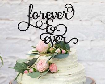 Wedding Acrylic Cake Topper - Forever & Ever (ARC1679) MADE IN Australia
