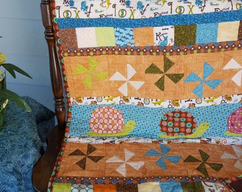baby quilt snips and snails