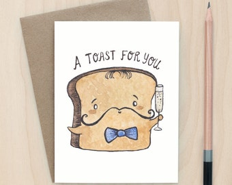 Toast For You - A2 Greeting Card