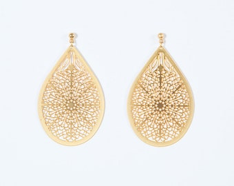 NEW East gold lace earrings