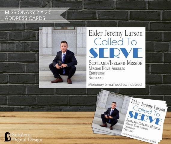 Lds Missionary Address Cards Business Size Address Cards