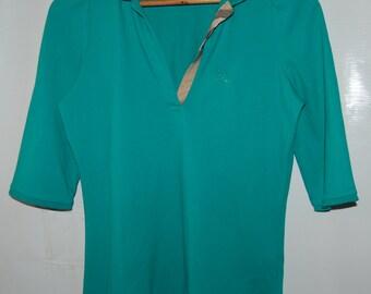 Sale Burberry Collared Shirt Top Sz M