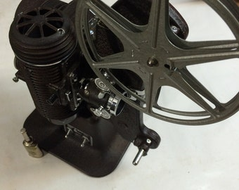 Vintage 1940's Bell & Howell Filmo Master 8mm Film Projector with oil can