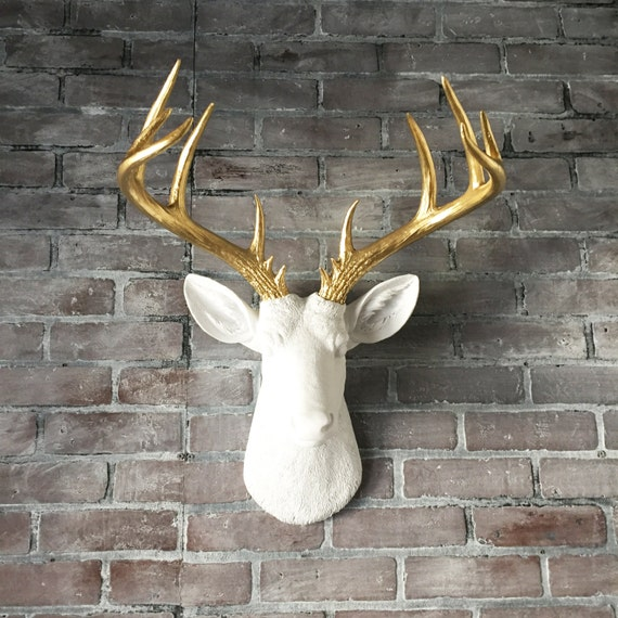 Animal Head Wall Decor White : Any color xl deer head wall hanging faux taxidermy fake