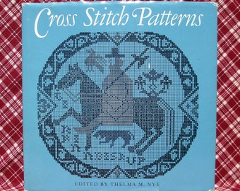Cross Stitch Pattern Instruction Book, Illustrated Charts, Denmark Iceland, Ancient China Peru Motifs, Sewing Needlework, Thelma Nye DIY Art