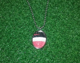 Football Necklace- Red/Black/White
