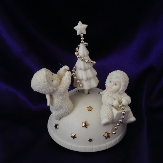 The Song Oh Christmas Tree: Dept 56 Snowbabies Rotating Music Box Oh Christmas Tree