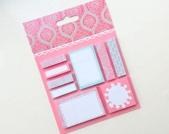 Sticky notes, set of 9 different designs