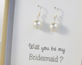 Simpl Pearl Earrings,Pearl EArrings,Pearl Jewelry,Dangle Earring,Pearl Dangle,Boho Wedding,Moonstone Bridesmaid,White Jewelry,White Wedding,