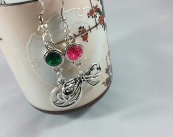 RWBY Inspired Jewel & Charm Earrings - Pair of Earrings, Mix and Match Characters - Teams RWBY, JNPR, Villains, Assorted Students