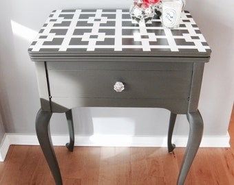 Sold - Grey and white console Table