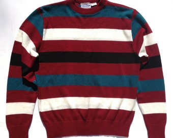 1970s Bold Rugby Stripe Sweater Portugal
