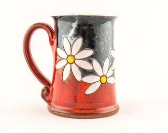 Pottery Coffee Mug, Ceramic Tea Cup, Pottery Mug, Coffee Cup, Ceramic Coffee Mug, Handmade Mug Funny Mug Unique Mug Tea Party, Big Tea Mug M