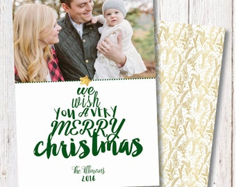 Cute Photo Christmas Cards, Family Christmas Cards, Gold Christmas Cards, Christmas Card Printable, Gold Metallic Cards, Holiday Photo Cards