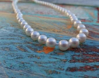 White Majorica Pearl Strand